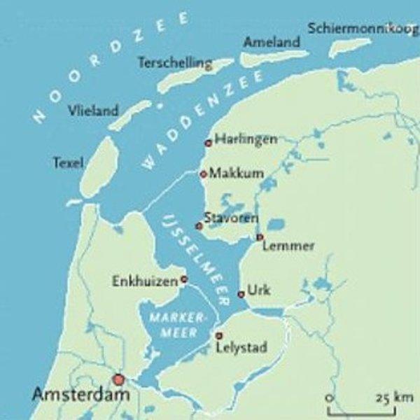 Niederlande Ijsselmeer Karte.Fahrgebiet La Boheme